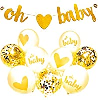 BEST Baby Shower Decorations for Baby Shower Oh Baby Banner Party Supplies Perfect To Announce Gender Boy or Girl Baby Shower Decoration. [並行輸入品]