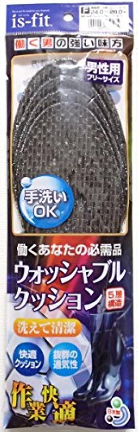 刺します非効率的なペデスタル洗える中敷「ウォッシャブルクッションインソール」 (作業靴男性用(24~28cm))