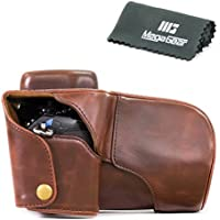 MegaGear Ever Ready Protective Fitted Leather Camera Case Bag for For Olympus OM-D E-M1 with 12-40 Lens (Dark Brown) [並行輸入品]