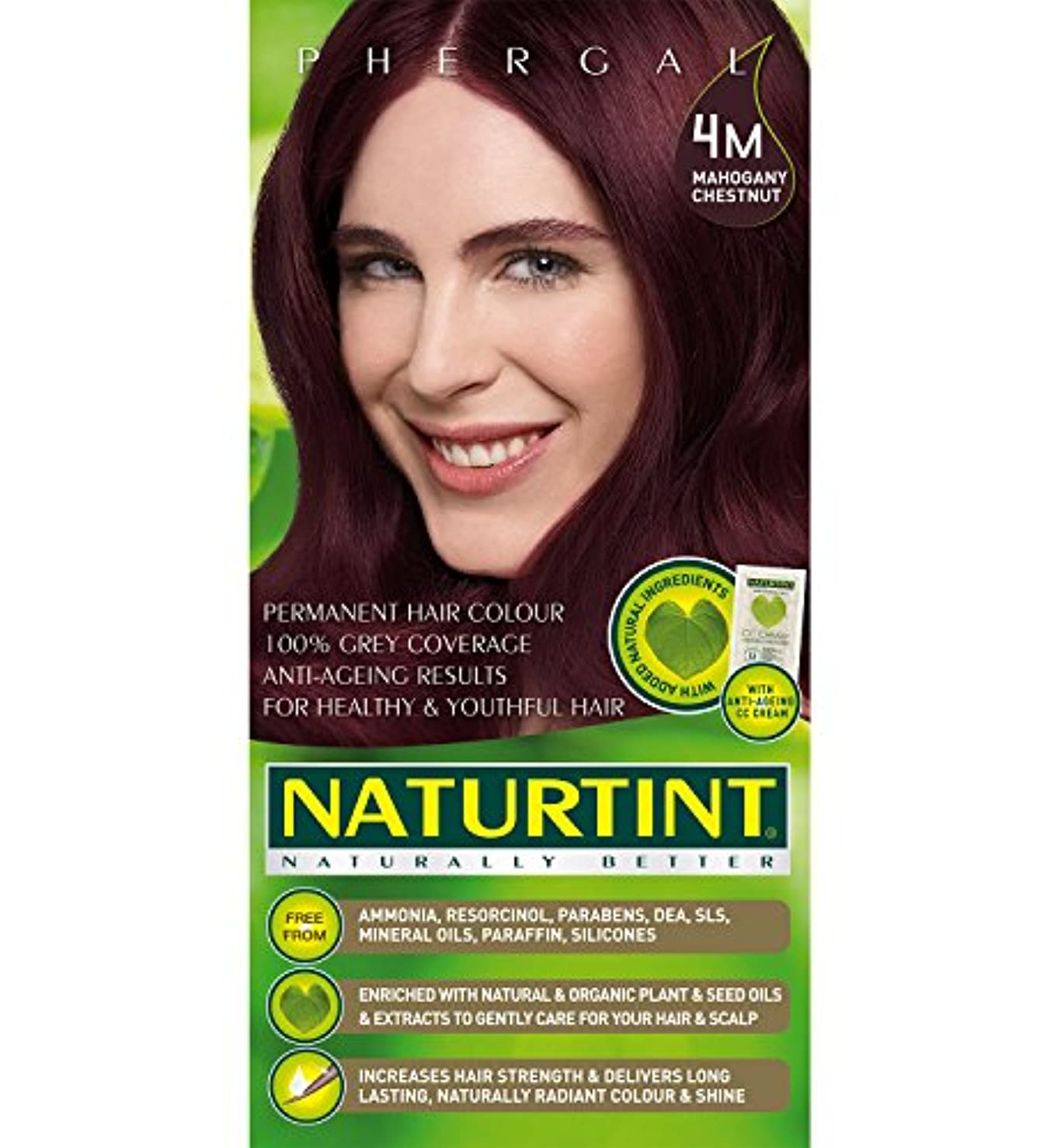 シティホイッスル滴下Naturtint Hair Color 4M Mahogany Chestnut Count (並行輸入品)