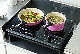 IHクッキングヒーター キッチン家電 安心安全に調理 2口IHクッキングヒーター ブラック