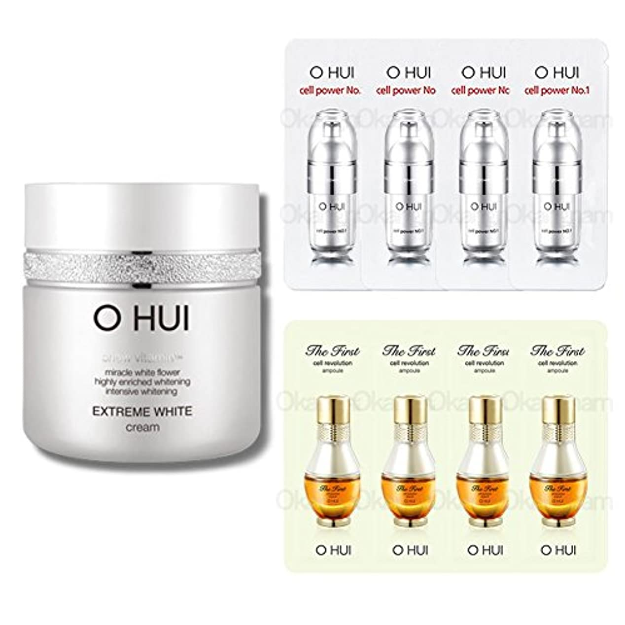 何でも満了眉をひそめる[オフィ/ O HUI]韓国化粧品 LG生活健康/ OHUI OEW04 EXTREME WHITE CREAM/オフィ エクストリーム ホワイトクリーム 50ml +[Sample Gift](海外直送品)