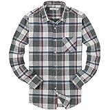 (UN ANANAS) オシャレ チェック 長袖 シャツ メンズ ワイシャツ トップス カットソー 綿 S M L XL 2XL