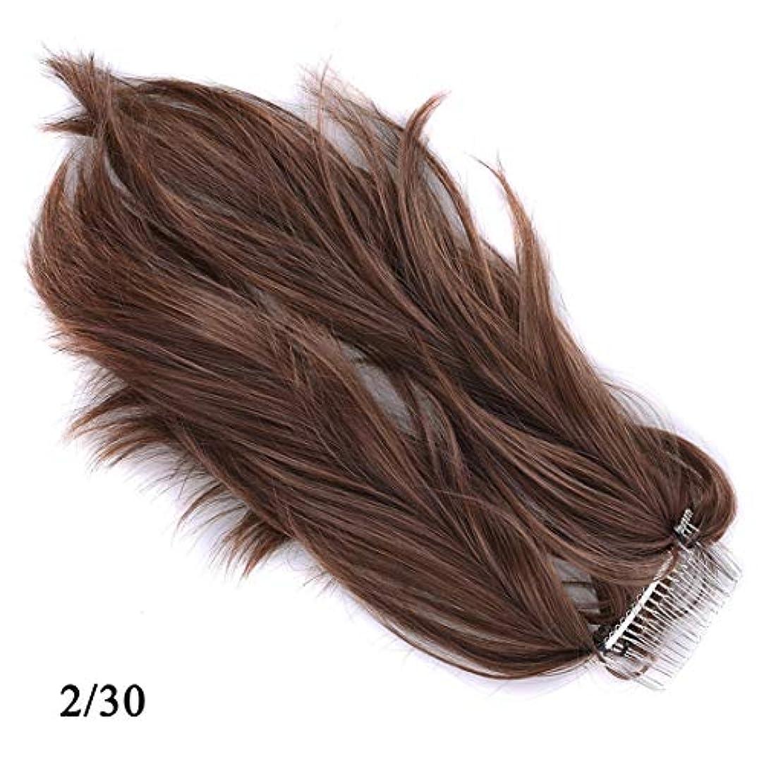 学校教育メンバーベースJIANFU かつらヘアリング様々な柔軟なポニーテールメタルプラグコムポニーテール化学繊維ヘアエクステンションピース (Color : 2/30)
