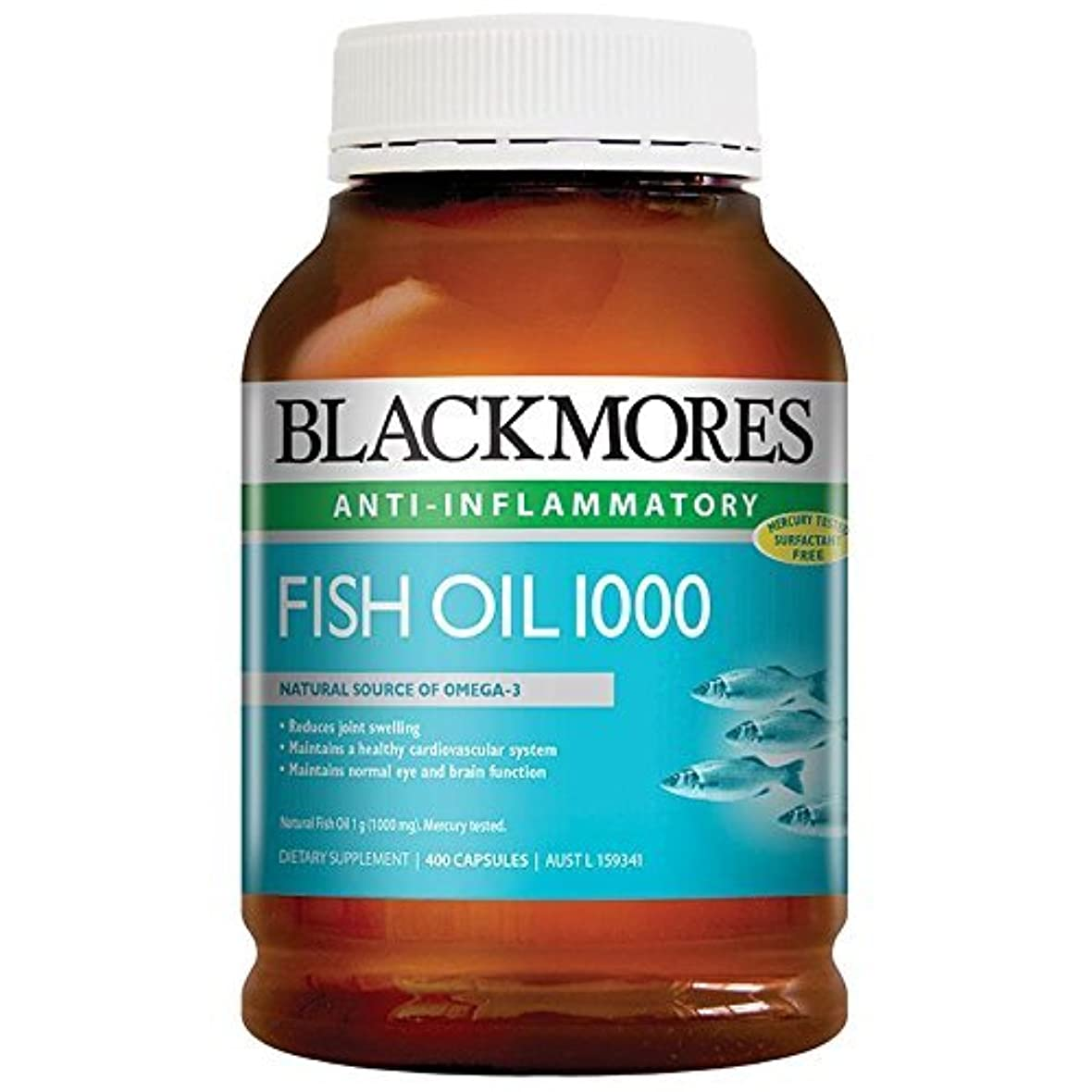 前件スナッチリボンBlackmores Fish Oil 400 Caps 1000 Omega3 Dha, EPA Fatty Acids with 1pcs Chinese Knot Gift by Blackmores LTD
