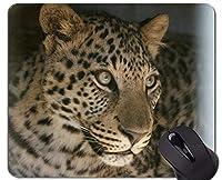 ロックの端が付いているマウスパッド、ステッチの端が付いているヒョウのヒョウのマウスパッド