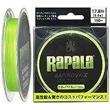 ラパラ(Rapala) ラピノヴァX マルチゲーム 150m 0.8号 17.8lb ライムグリーン Rapinova-X Multi Game 150M . RLX150M08LG