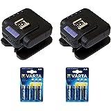 Cactusワイヤレスフラッシュトランシーバv6II (2- Pack) with Varta 1.5V AA lr6アルカリ電池(2- Pack) キット