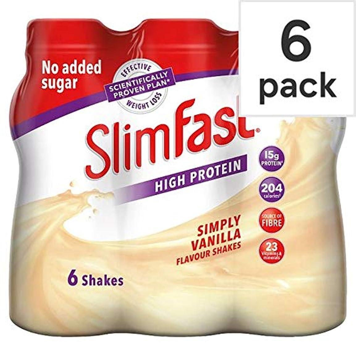 効果的に晩ごはん関係ない[Slim-Fast] Slimfastバニラミルクセーキ6パックのX 325ミリリットル - Slimfast Vanilla Milkshake 6 Pack X 325Ml [並行輸入品]