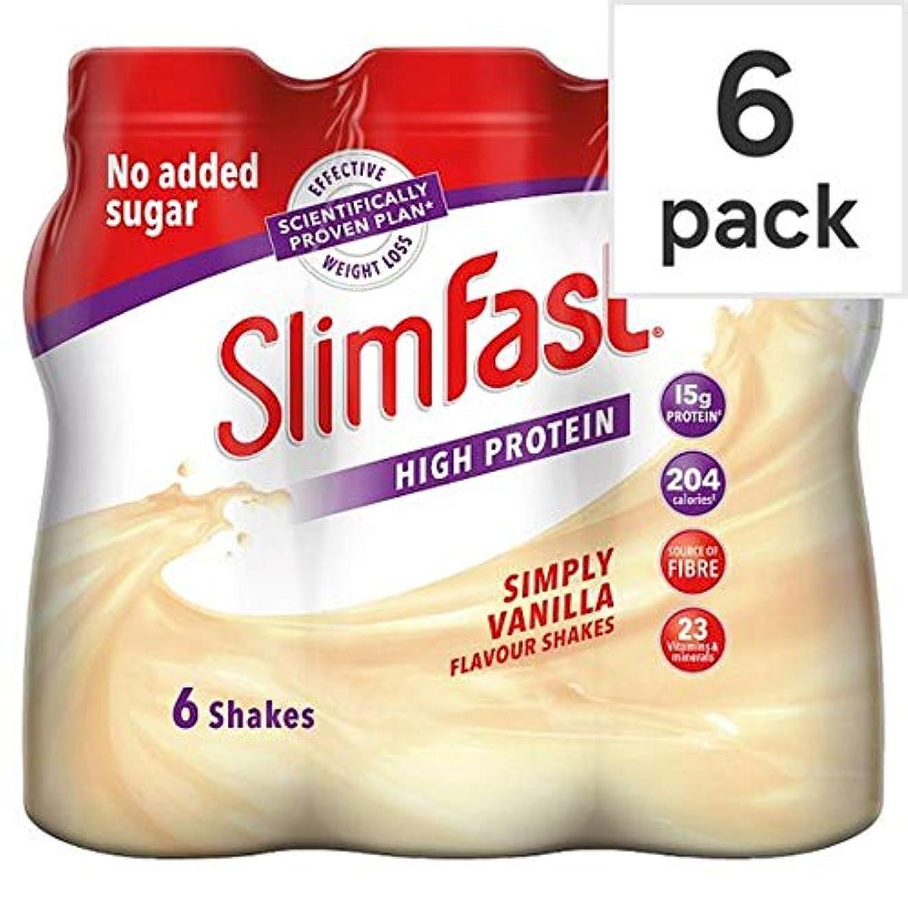 スリラーインスタンス氷[Slim-Fast] Slimfastバニラミルクセーキ6パックのX 325ミリリットル - Slimfast Vanilla Milkshake 6 Pack X 325Ml [並行輸入品]