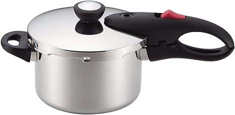 パール金属 片手 圧力鍋 IH対応 レシピ付 軽量 単層 NEO