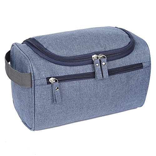 EGOGO Toiletry Bag Travel Overnight Wash Gym Shaving Bag for Men and Women Ladies E528-3 (Blue)