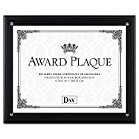 - - - - - - - Award Plaque、木製/アクリルフレーム, Fits up to 8 – 1 / 2 x 11、ブラック