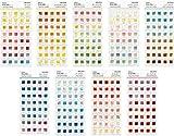 世界の色見本帖 全9種セット 色見本シール 世界の色見本シール オーロラ シーグラス ローズブーケ ミントチョコ ブルーアワー