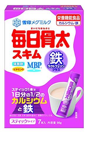 雪印メグミルク 毎日骨太スキム 鉄ラクトフェリンプラス 7本 ×12セット
