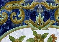 Bzbhart 3D注文の壁紙の天井、大陸の濃紺パターン、居間の寝室の天井のレストランの壁のための レトロ-350cmx245cm