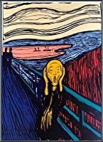 ポスター アンディ ウォーホル Sunday B Morning The Scream orenge (After Munch) 限定1500枚 証明書付 額装品 アルミ製ベーシックフレーム(ブラック)