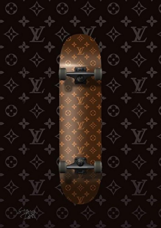ルイ ヴィトン Louis Vuitton モノグラム ポップアート #er49 オマージュ アートポスター A4サイズ(210×297mm)