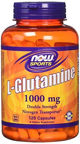 NOW Foods - Lグルタミンの二重強さ 1000 mg。120カプセル【海外直送品】