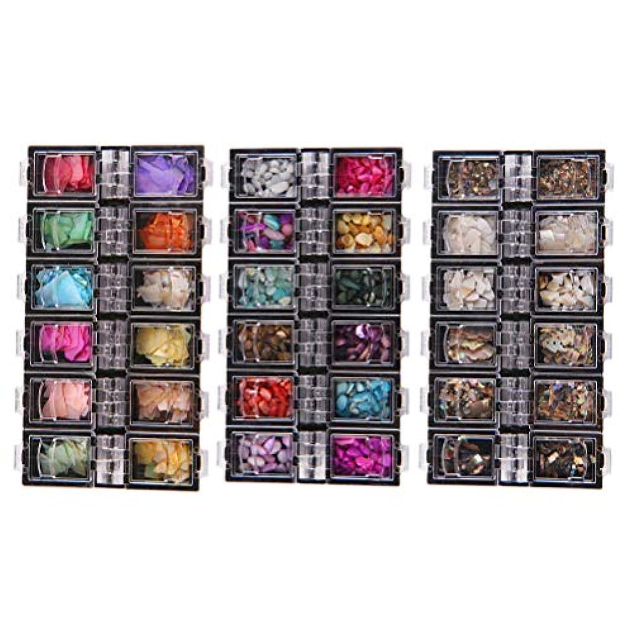 分類堂々たる規制するLurrose 3セット自然海3dチャームネイルアートハイライトネイルスパンコールdiyネイル美容アクセサリー