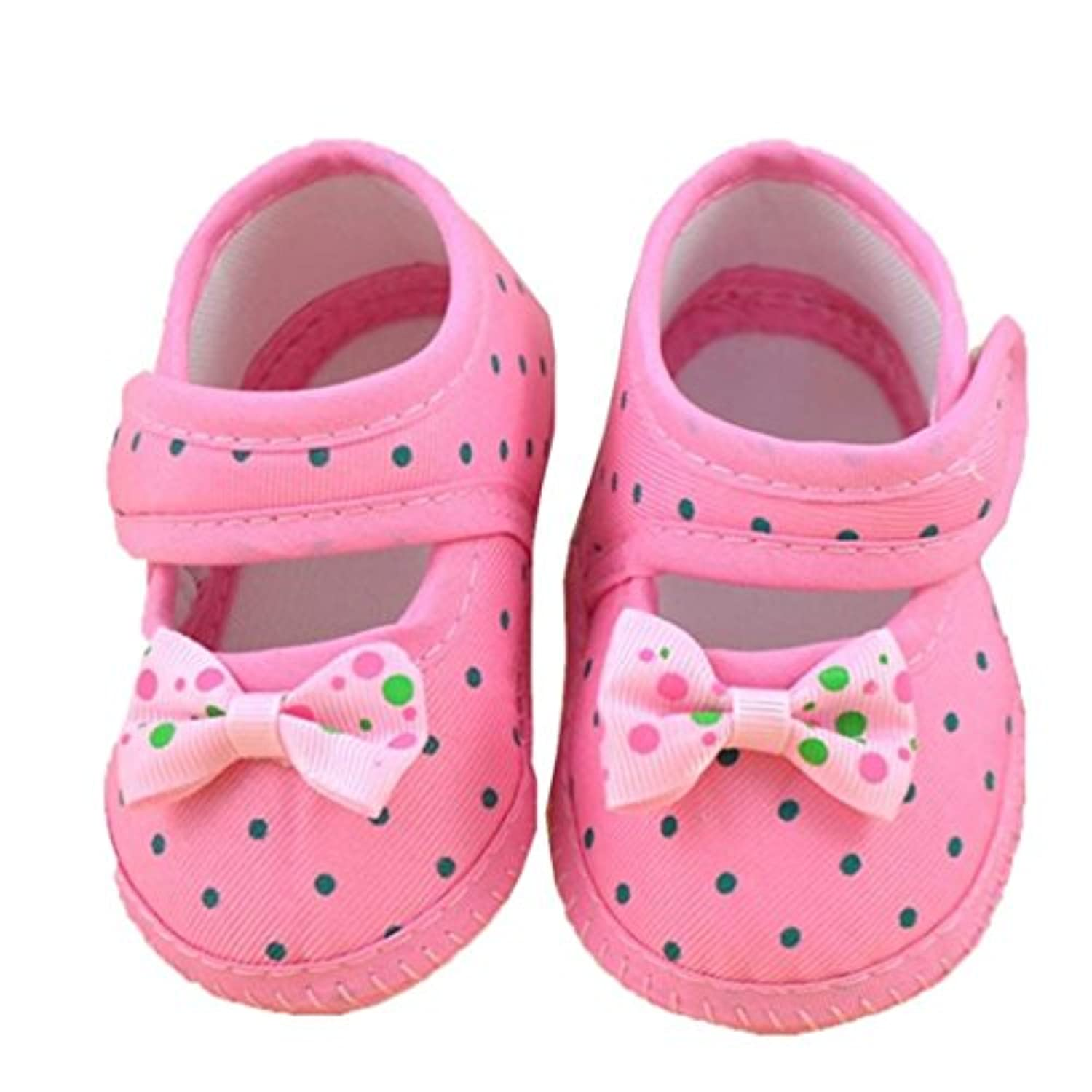 Franterd Baby Sneaker Toddler Shoes Bowknot Boots Soft Crib Shoes (3, Pink) by Franterd