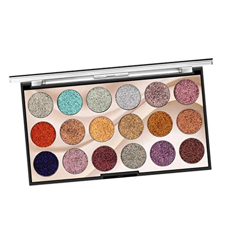 シフト最高意図的アイシャドウパレット 18色 化粧パレット メイクアップ マルチプルカラー コスメ 全2種 - 02