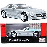 Rastar 1:43 Mercedes-Benz SLS AMG SILVER ミニカーの車新 [並行輸入品]