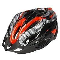 自転車 サイクルヘルメット 大人用 保護ヘルメット 超軽量 通気孔21個 頭囲サイズ調整可能 頭囲54-62cm 頭守る レッド
