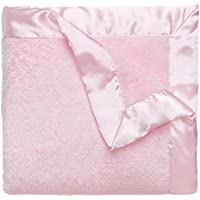 Elegant Baby Ultra Plush Blanket, Satin Border Blanket 36 x 45 Inch in Pastel Pink by Elegant Baby