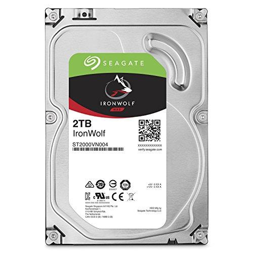 "Seagate IronWolf 3.5"" 2TB 内蔵ハードディスク HDD 3年保証 6Gb/s 64MB 5900rpm 24時間稼動 PC NAS向け ST2000VN004"