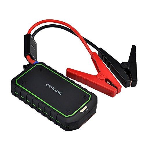Qtuo ジャンプスターター 12000mAh 車載 カーエンジンスターター  充電式非常用電源 車用バッテリー充電器  モバイルバッテリー LED照明ライト付き LED非常ライトも搭載 スマホ/iPhone/iPad/ノートパソコンなど緊急充電