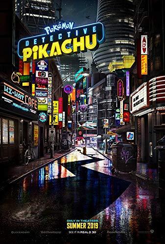 映画ポスター 名探偵ピカチュウ ポケモングッズ Pokemon/ハリウッド 実写 アニメ インテリア かわいい フレームなし/ADV-両面 オリジナルポスター
