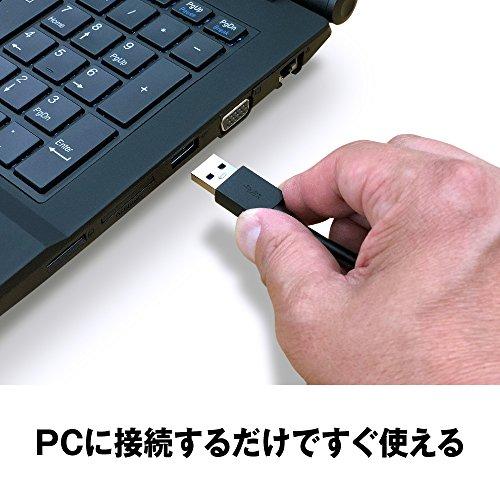 『BUFFALO ミニステーション USB3.1(Gen1)/USB3.0用ポータブルHDD 2TB HD-PCFS2.0U3-BBA』の3枚目の画像