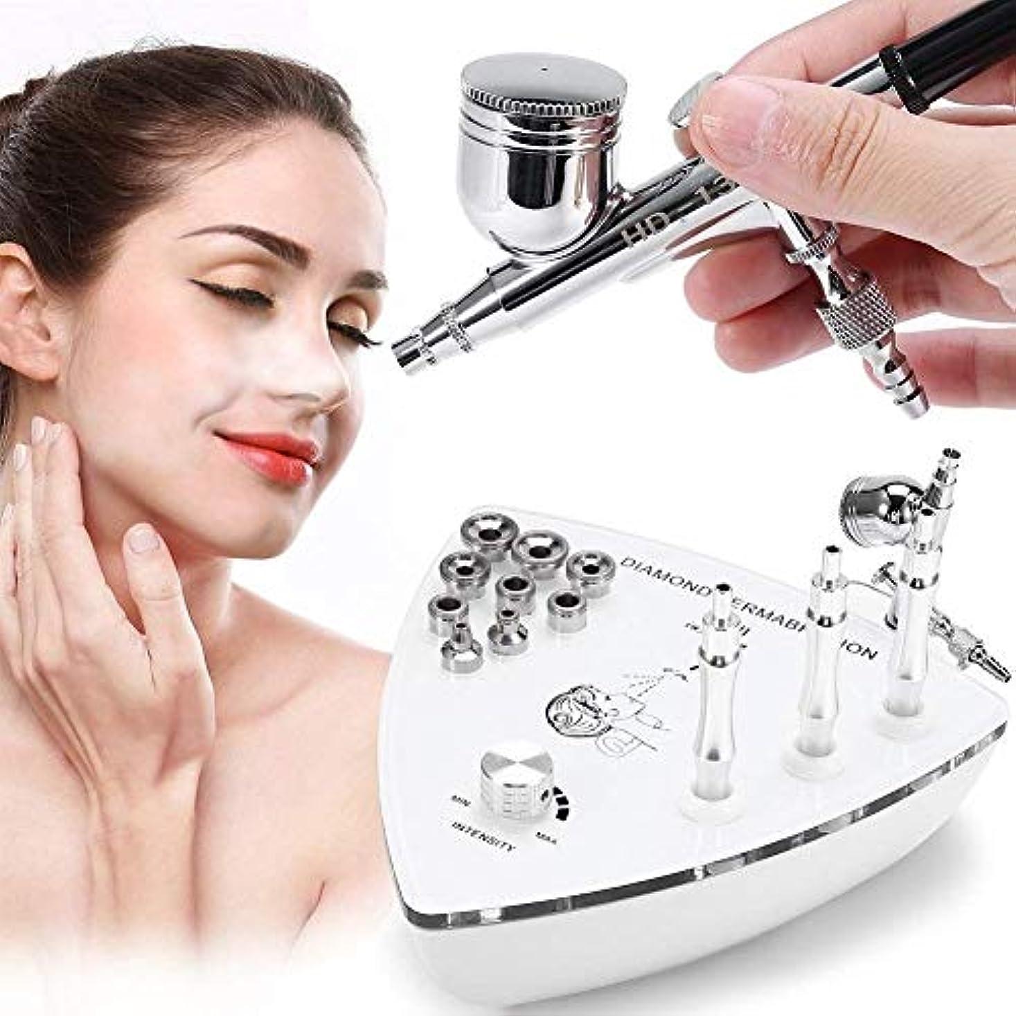 満州降下沿って専門のダイヤモンドのMicrodermabrasion Dermabrasion機械、顔の心配の皮装置水スプレーのしわの取り外しの皮のきつく締まる剥離のための家の使用のための装置