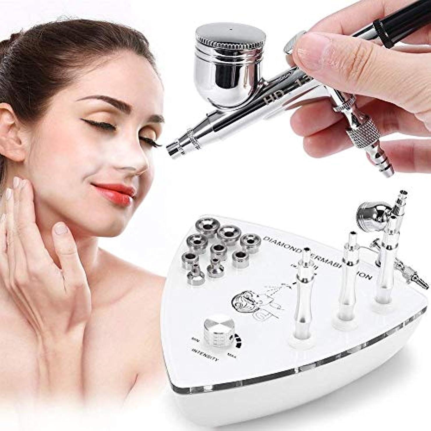 突撃接続宣伝専門のダイヤモンドのMicrodermabrasion Dermabrasion機械、顔の心配の皮装置水スプレーのしわの取り外しの皮のきつく締まる剥離のための家の使用のための装置