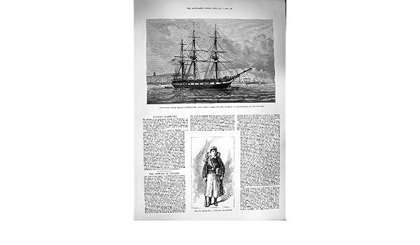 Antique Print 1880 DOLORES RODRIGUEZ A Peruvian Vivandiere