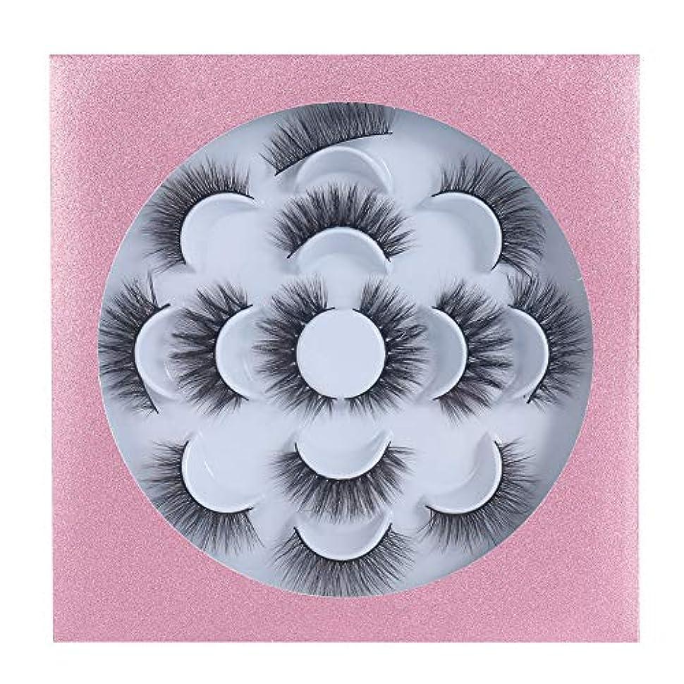 ハング内訳病的GEQ-Distance つけまつげ 高級繊維 手作業 アイラッシュ やわらかい まつげ 自然 人気 つけまつ毛 3D 大きい目 付けまつ毛 7ペア