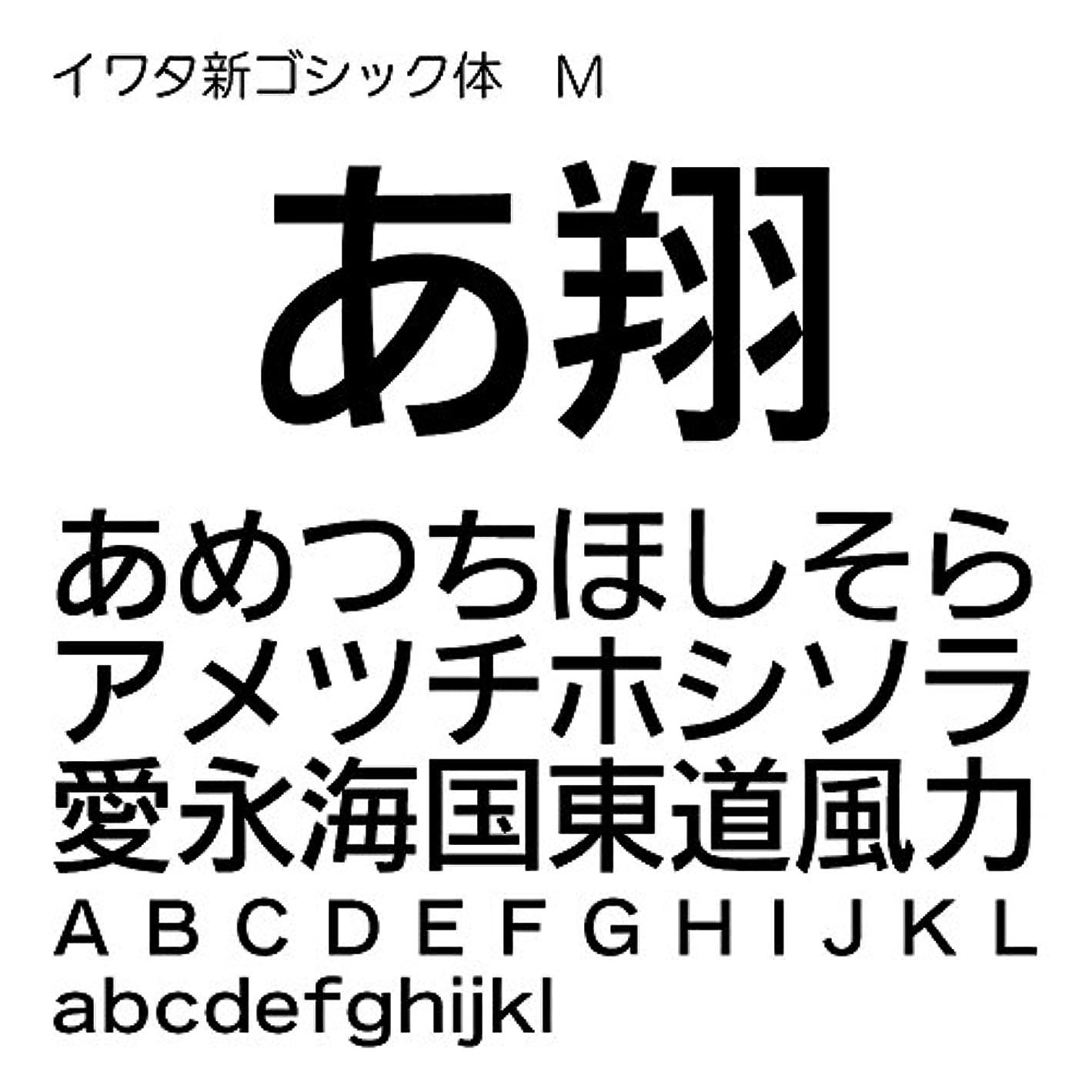 地獄宴会ピアースイワタ新ゴシック体M Pro OpenType Font for Windows [ダウンロード]