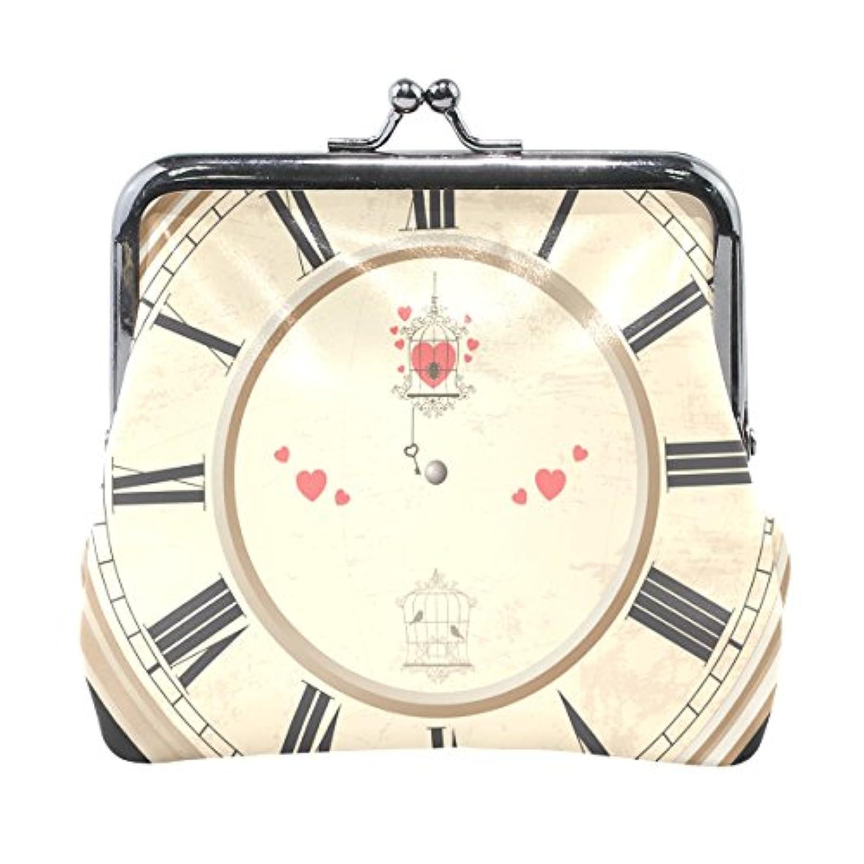 がま口 財布 口金 小銭入れ ポーチ 時計 Jiemeil バッグ かわいい 高級レザー 好評 買い得 レディース プレゼント ほど良いサイズ