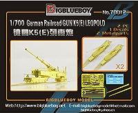 1/700 独 K5(E) 28cm レオポルド列車砲
