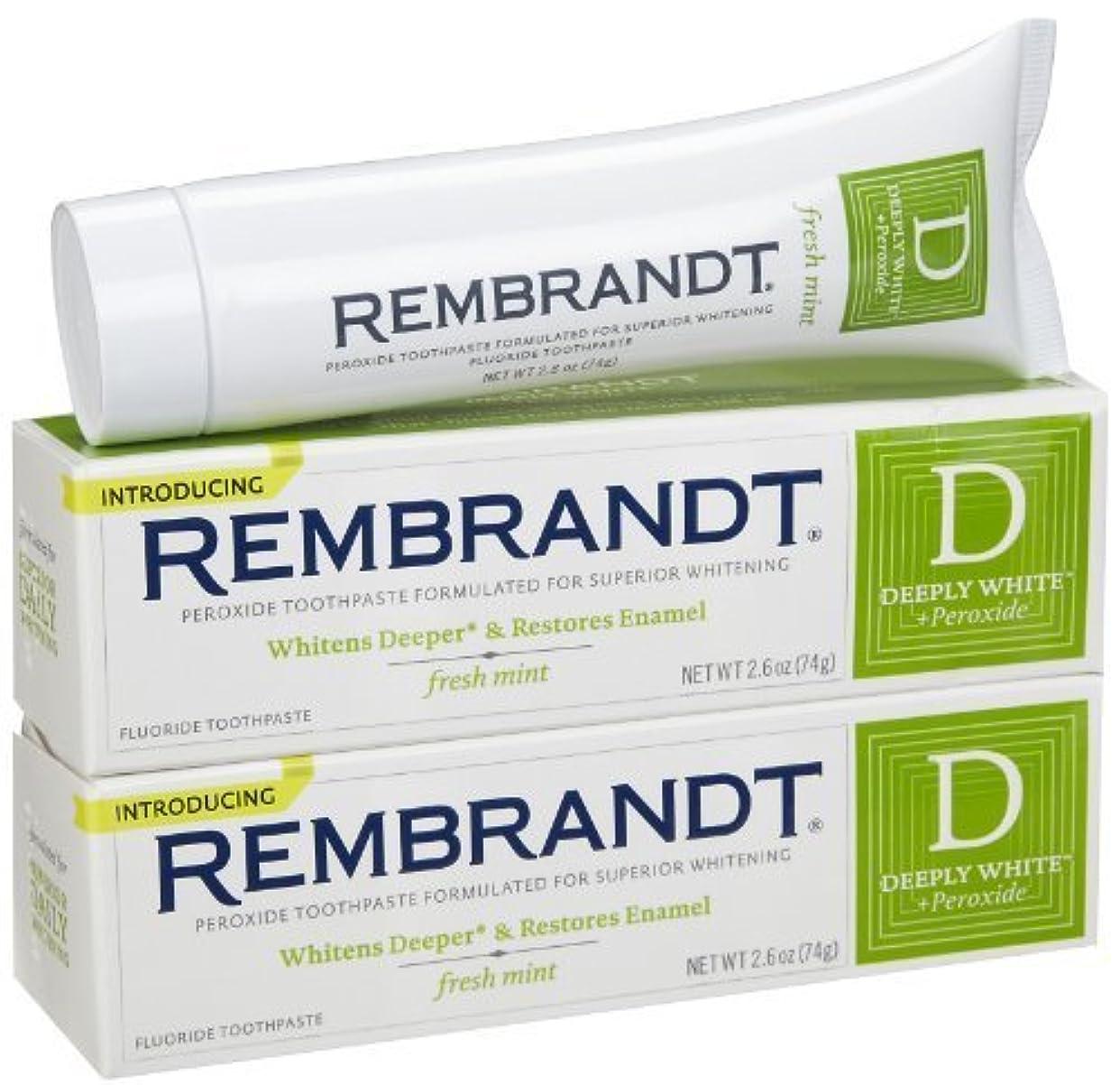 生息地ギャンブル教育するRembrandt Fluoride Toothpaste, Mint - 2.6 oz - 2 pk [並行輸入品]
