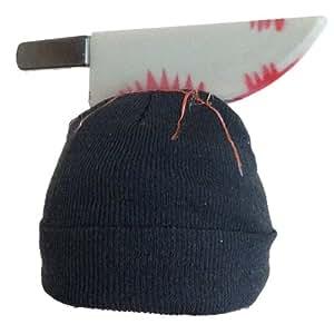 「頭にナイフが刺さっています」 スタイリッシュなおもしろ帽子?! 欲しかったパーティーグッズ