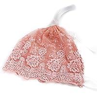 Davcor Moring 子供用 帽子 レース帽子 耳保護 可愛い 新生児 記念日 プレゼント おしゃれベビー用ヘアバンド お花柄 新生児 赤ちゃん 出産祝い 内祝い ピンク