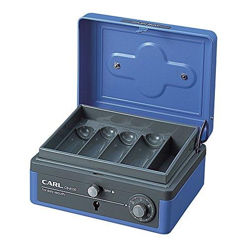 カール事務器 手提金庫 キャッシュボックス M CB-8100-B [ブ...
