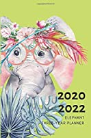 3 Year Planner 2020-2022 Elephant Watercolor Three Years Monthly Schedule Organizer With Holidays: Pocket Mini Academic 36 Months Calendar; Slim Agenda Planner; Small Goals Journal & Purse Diary Notebook With Inspirational Quotes