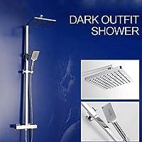 一定温度 シャワーヘッド セット オールブロンズ リフト ホットとコールド 蛇口 加圧 平方 シャワー ノズル バスルーム シャワーキット MAG.AL
