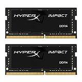 キングストン Kingston ノート用 オーバークロック PCメモリ DDR4-2133(PC4-17000) 8GBx2枚 HyperX Impact CL13 Non-ECC SODIMM HX421S13IBK2/16 永久保証