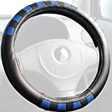 Z-style ディープブルー チェック ハンドルカバー ブラック×ブルー ZXHC-CH04