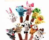 楽しく話そう 動物 指人形 10種類 セット どうぶつ園 ごっこ 知育 演劇