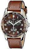 (ビクトリノックス) VICTORINOX Unisex 241498 Chrono Classic Stainless Steel Watch with Brown Leather Band [並行輸入品] LUXTRIT